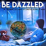 World Globe with Illuminated Constellations