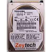 Toshiba MK1032GAX - Hard drive - 100 GB - internal - 2.5 - ATA-100 - 5400 rpm - buffer: 16 MB.