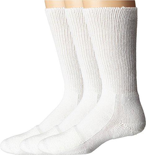 Thorlos Unisex Steel Toe Mid-Calf Sock 3-Pair Pack White ()