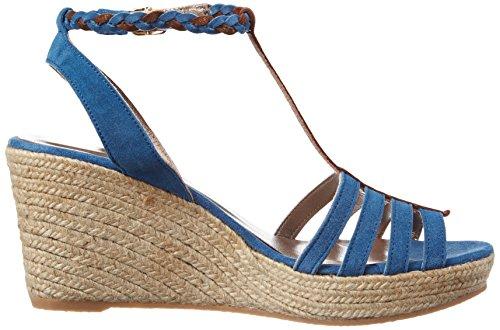 Bensimon Compensee Tressee, Sandalias con Plataforma para Mujer Azul (Bleu)