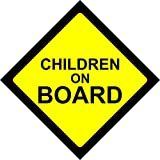 CHILDREN ON BOARD WARNING SAFETY SIGN Sticker Vinyl Decal for car vehicle window