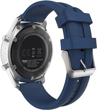 MoKo Reloj Correa Compatible con Galaxy Watch 46mm/Gear S3 Classic/Huawei Watch GT 2e/S3 Frontier/Huawei Watch GT 46mm/Huawei Watch GT 2 46mm,Pulsera de Silicona: Amazon.es: Electrónica