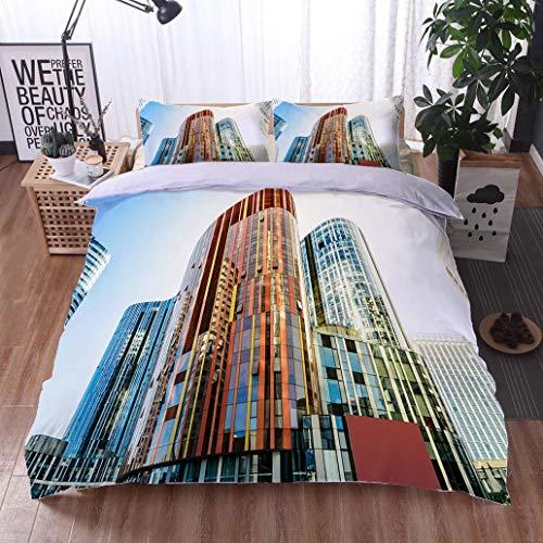 HOOMORE Bed Comforter - 3-Piece Duvet -All Season, Sanlitun Landmark Office Building SOHO Office,HypoallergenicDuvet-MachineWashable -Twin-Full-Queen-King-Home-Hotel -School - Soho Platform Bed Twin
