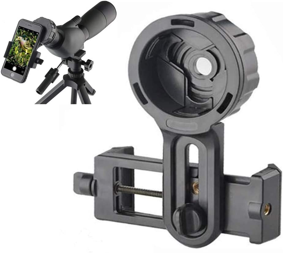 SOLOMARK Cell Phone Photography Adapter Mount -Compatible Telescope Spotting Scope Binoculars Monocular, Fit Almost Brands Smartphones