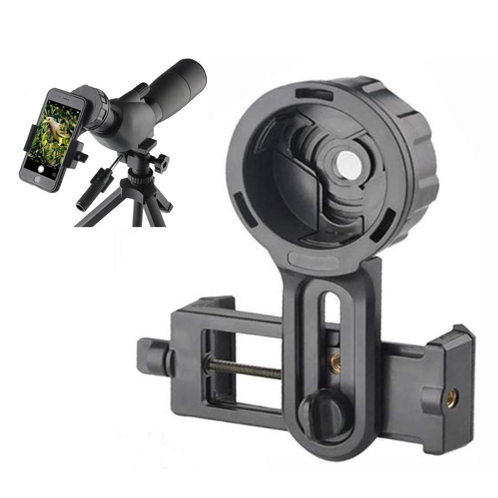 SOLOMARK Cell Phone Photography Adapter-Compatible Telescope Spotting Scope Binoculars Monocular,Fit Almost All Brands Smartphones.