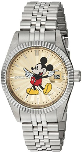 Invicta Women's 'Disney Limited Edition' Quartz Stainless Steel Casual Watch, Color:Silver-Toned (Model: 22774)