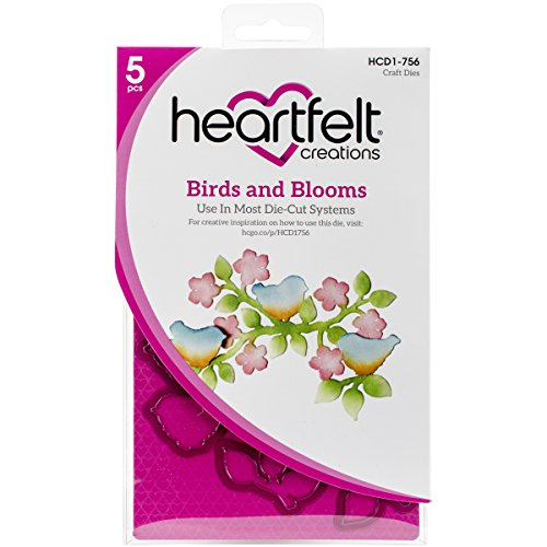 Heartfelt Creations Birds & Blooms .75'' to 5'' Emboss Dies by Heartfelt Creations