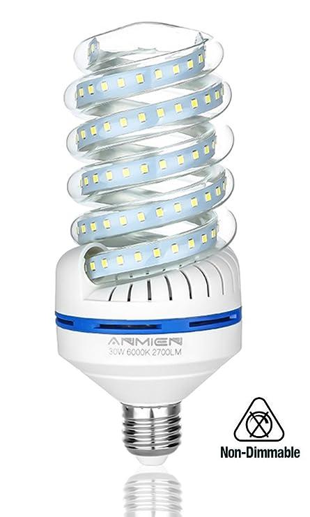 Light Bombilla LED E27, 30 W equivalente a 250 W, Blanca Fria