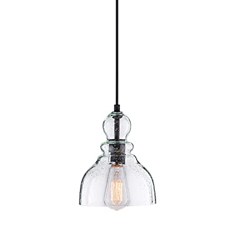 Donglaimei industrial mini pendant lighting with handblown clear donglaimei industrial mini pendant lighting with handblown clear seeded glass shade adjustable edison farmhouse kitchen aloadofball Gallery
