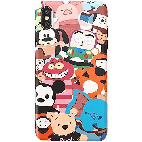 Slim Soft TPU Disney Friends Case for iPhone XS Max Disneyland Cheshire Cat Winnie the Pooh Bear Mickey Mouse Tigger Buzz Lightyear Woody Piglet Pluto Dumbo Elephant Kids Teens Girls Boys Daughter Son