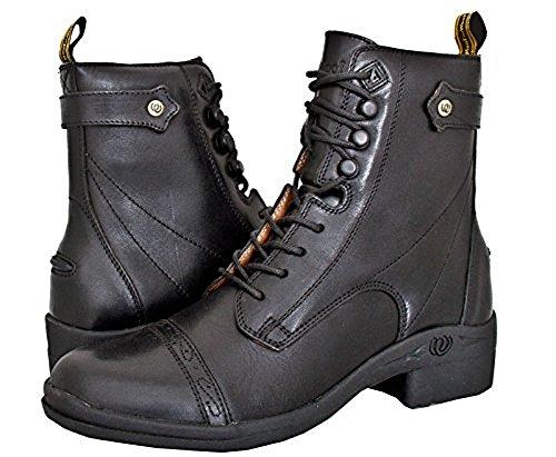 Hoof & Woof Lace Side Zip Paddock Boot Brown LWhOTOQ
