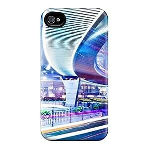 Cute High Quality Iphone 4/4s Night Urban Traffic City Case