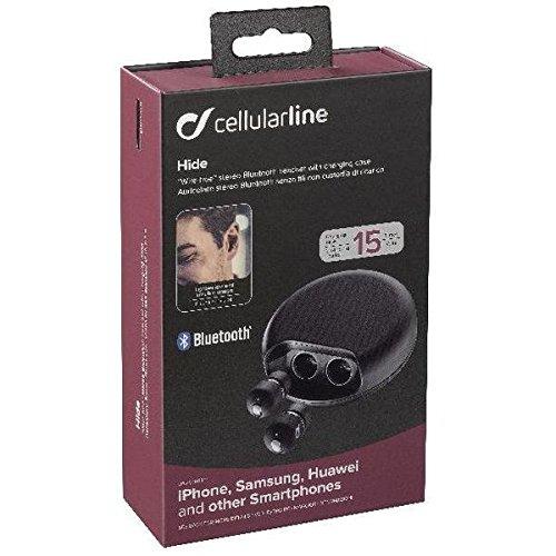 Cellularline BTHIDETWSK Dentro de oído Binaural Inalámbrico Negro: Amazon.es: Electrónica