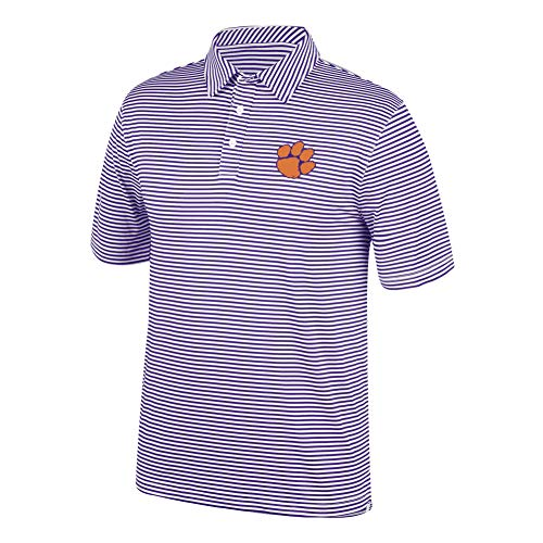 Top of the World NCAA Men's Clemson Tigers Team Color Stretch Bunker Polo Purple Medium -