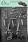 Cybrtrayd L037 Number 1 to 5 Cake Toppers Chocolate Candy Mold with Exclusive Cybrtrayd Copyrighted Chocolate Molding Instructions