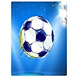 Blanket Sofa Bed Throw Lightweight Cozy Plush Soccer Football Ball For Kids 40''x50''