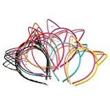SALOCY Cat Ear Headbands for girls,15 PCS