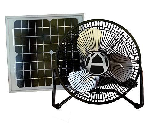 Western Harmonics 12 Inch Solar Powered High Velocity Fan