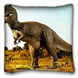 Custom ( Animal Dinosaur ) Pillowcase Cushion Cover Design Standard Size 16x16 inches One Sides suitable for X-Long Twin-bed PC-Purple-2690