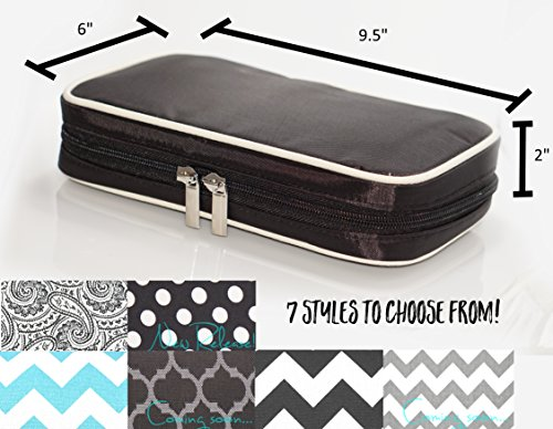 Jewelry & Accessories Travel Organizer Bag Case (Black) by Simple Accessories (Image #2)