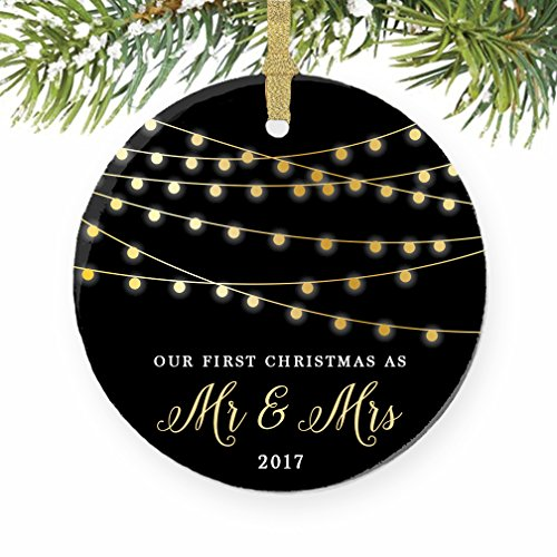 First Christmas as Mr & Mrs Ornament 2017, 1st Married Christmas Ornament, First Married Christmas, 3