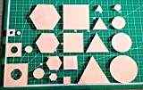 Itajime Shibori Templates - 44 piece set - Square, Circle, Hexagon, and Twinkle