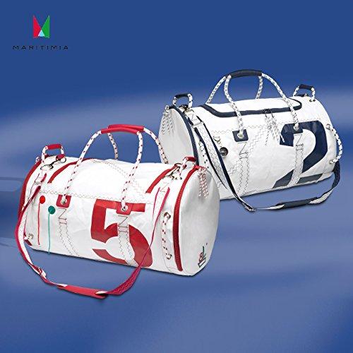 Sea Mate Segeltasche Weiß/Rot aus Segeltuch