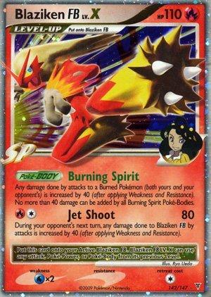 Pokemon Platinum Supreme Victors Single Card Blaziken FB Lv. X #142 Ultra Rar... (Best Pokemon Lv X Cards)