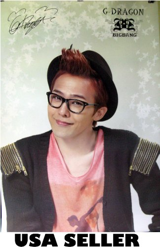 G-Dragon of Bigbang #A Poster Korean boy band Big Bang Top Tae Tang T.O.P.