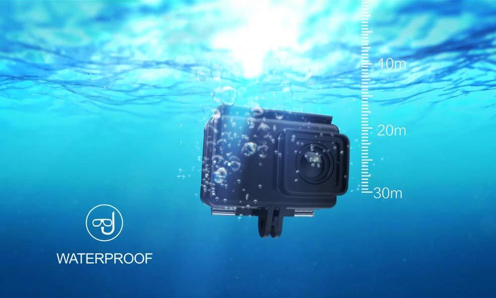 Tarjeta TF de 16GB + SOOCOO S300 4K HD 12MP Pantalla TFT Touch de 2.35 Pulgadas Acción deportiva Cámara de video DV 170 Grados Lente gran angular Cámara ...