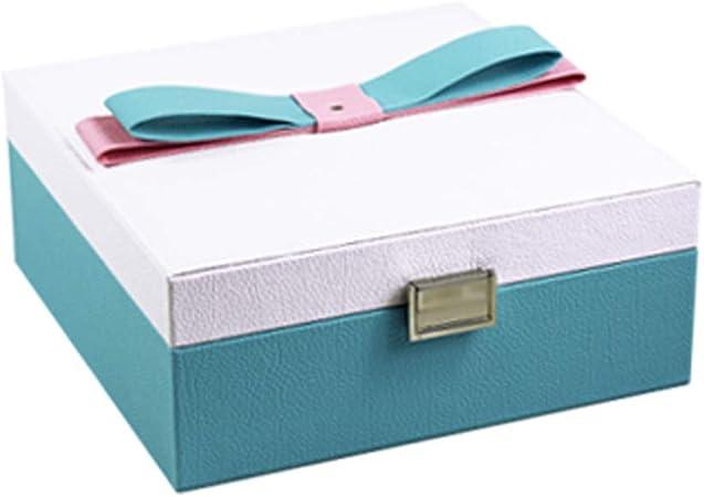 MIIAOPAI-Jewelry Box Joyero, Organizador De Joyas, con Espejo, Estuche De Viaje PortáTil, para Anillos, Aretes, Collares, Forro De Terciopelo (Verde Claro): Amazon.es: Hogar