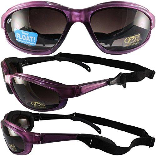 Chix Freedom Padded Sunglasses Pearl Purple Frames Gradient Grey - Sunglasses Biker Kd