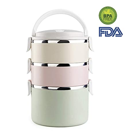 b49a0481e Food Containers - Mr.Dakai Stainless Steel Bento Lunch Boxs -Portable Picnic  Storage Boxes