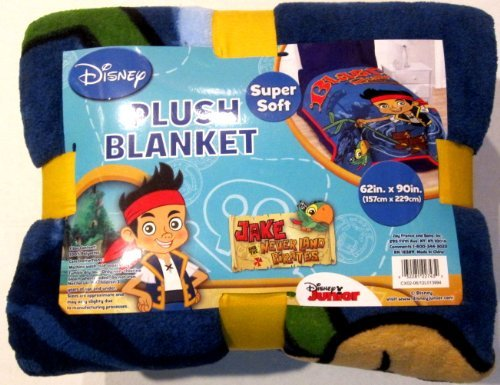 Jake and the Neverlands Pirates Twin / Full Oversize Plush Blanket