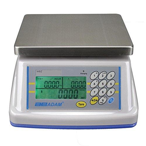 Adam Equipment Wbz 15A Wash Down Retail Scale  15Lbs Capacity  0 005Lbs Readability