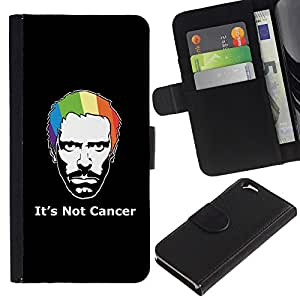 Be Good Phone Accessory // Caso del tirón Billetera de Cuero Titular de la tarjeta Carcasa Funda de Protección para Apple Iphone 6 4.7 // Its Not Cancer House