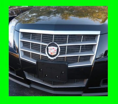 Chrome Grill Kit - 312 Motoring fits CADILLAC CTS 2008-2010 CHROME GRILLE GRILL KIT 2009 08 09 10