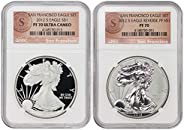 2012 S 1 oz Proof Silver Eagle San Francisco Set (PF-70 Ultra Cameo & PF-70) by CoinFolio PF70