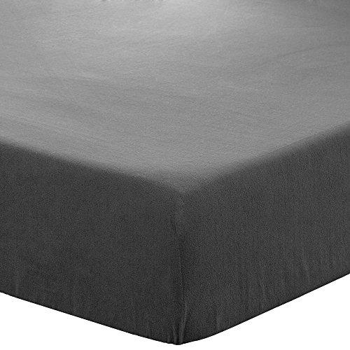 Fleece Fitted Bottom Sheet Hypoallergenic Deep Pocket Ultra Soft Micro Fleece (Full, Grey)