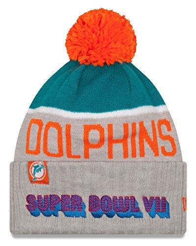 めるなる篭Miami Dolphins New Era NFL Super Bowl VIIロゴグレースポーツニット帽子
