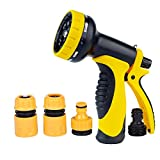 Losun Hose Nozzle, Garden Hose Nozzle with Heavy Duty 10 Adjustable Spray Patterns for Watering Garden, Washing Car and Pets