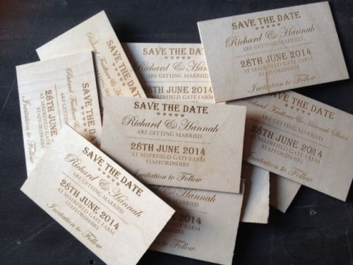 Bespoke Wooden Save the Date Invitatation Cards - Different & Classy Wedding Invites (136)