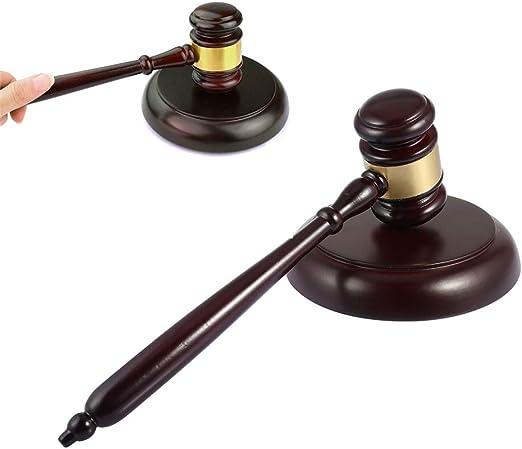 Juego de martillo de madera para suministro de abogado, juez ...