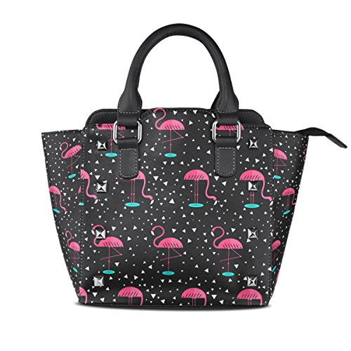 Sunlome Christmas Cats Lover Pattern Handbags Womens Leather Tote Shoulder Bags