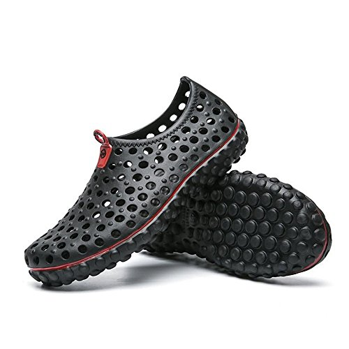 2018 da Sandali da Sandali Xujw Cachi Vamp Moda Walking 41 ginnastica Uomo shoes Nero Hollow Scarpe Color Outdoor Dimensione britannica Zoccoli da EU uomo FCC7pqw5