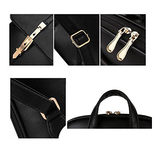 TOMATO-smile - Bolso mochila  de poliuretano para mujer azul verde negro