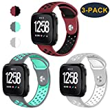 CAVN 3-Pack Compatible Fitbit Versa Bands for Men Women, Sweat Resistant Replacement Accessory