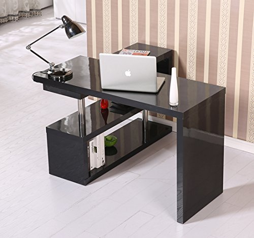 Homcom scrivania pc tavolo per computer di design con for Scrivania per pc