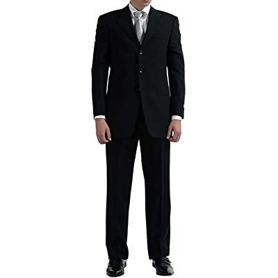 New Men's 3 Button Single Breasted Black Dress Suit at Amazon Men's Clothing store