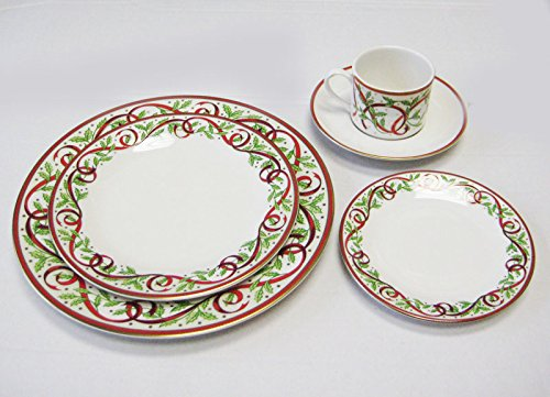 Pickard China Winter Festival ivory 5 Piece Place Setting